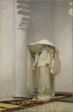 astra-inclinat:    John Singer Sargent - Smoke of Ambergris (1880)
