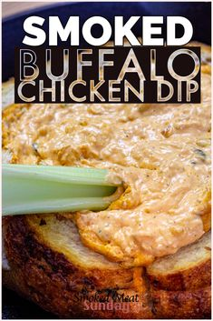 One of my favorite simple appetizer recipes. This smoked buffalo chicken dip recipe is keto friendly, and the perfect addition to any tailgate party. Easy Appetizer Recipes, Yummy Appetizers, Dip Recipes, Yummy Snacks, Smoked Chicken Recipes, Buffalo Chicken Dip Recipe, Chicken Dips, Traeger Recipes, Grilling Recipes