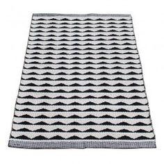 Nieuw in de shop! Vloerkleed Aspegren Denmark zwart-wit 130x70cm