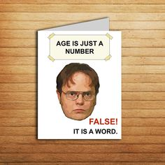 The Office tv show Birthday Card Printable The Office cards Birthday gift for coworker Funny meme Dwight Schrute Michael Scott Jim Halpert - Geburtstagsparty Meme Birthday Card, Coworker Birthday Gifts, Gifts For Coworkers, The Office Birthday Meme, Humor Birthday, Happy Birthday, Birthday Message, 16th Birthday, Funny Printable Birthday Cards