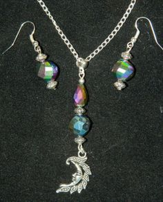Handmade-AB-Crystal-Silver-Moon-Pendant-Necklace-Earrings-Jewelry-Set-20