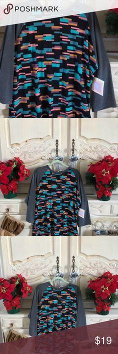 Classic  SALE Lularoe Soft and stretchy ! 2 xl  pretty colors LuLaRoe Tops Tees - Long Sleeve