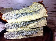 Mohn-Quark-Kuchen mit Dinkelgries - ohne Zucker ohne Mehl ohne Butter oder Fett backen, mit Magerquark, Dinkelgries, Whey, Zitrone, Eiern und Vanille.