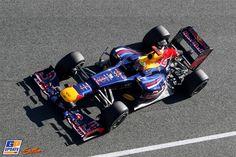Mark Webber, Red Bull, Formula 1 test at Circuito Permanente de Jerez 7 February 2012, Formula 1
