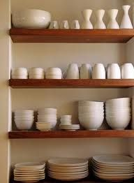 shelves in kitchen - Google Search. Open Kitchen CabinetsWooden .