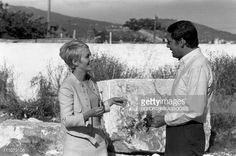 Photo d'actualité : Jean Seberg and Maurice Ronet at filming of 'La...