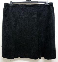 NEU Kurzgröße Übergröße eleganter Damen Stretch Rock schwarz atmungsa Gr.30 (60)