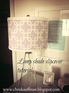 diy. lamp shade cover.