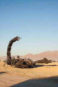 Scorpion, 2012 - Mutant vehicle at Burning Man. How many hours fabricating this??