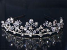 Crystals Tiara - Bridal Tiaras from the UK, Handmade by Kerrie G. £65.99, via Etsy.