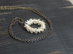 Ouroboros (dead) Circle of snake vertebra necklace. Animal Bone Jewelry
