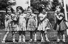 1934- the birth of the Dionne quintuplets..the first set of quintuplets to survive infancy.
