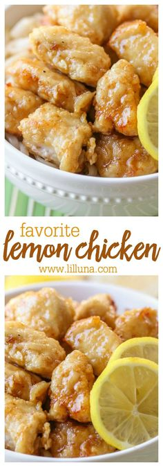 Simple and delicious Lemon Chicken, packed with lots of flavor! Serve over rice or noodles - SO good!!