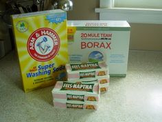 Homemade laundry detergent!  Smells wonderful - cleans  even better! 2 TBsp per load.    I also added 1 cup oxi clean ~ Jana