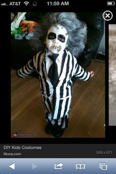 Beetle juice toddler costume!