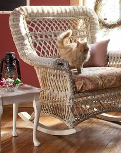 Love the rocker and the sweet kitty (pinned from the Romantic Prairie Style magazine site)(photo was taken at Maple Valley Farm)