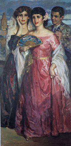 A Aire de mi Abanico by José Cruz Herrera (Spanish, 1890–1972)