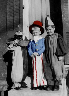Uncle Sam, Periot and Clown costumes 1949