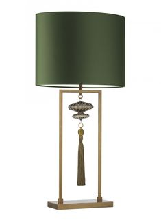 Hotel Lighting Collection: Tall Classic Fortuny Table Lamp * Antique Brass * Partner Chandeliers, Pendants, Floor Lamps, Wall Lights Available * 100 Custom Shade Options Green Table Lamp, Large Table Lamps, Brass Table Lamps, Bedside Table Lamps, Brass Lamp, Desk Lamp, Green Lamp, Lamp Table, Luminaire Design