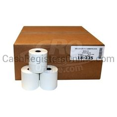 3'' x 90' 2 Ply Bond Paper Rolls - White/Canary