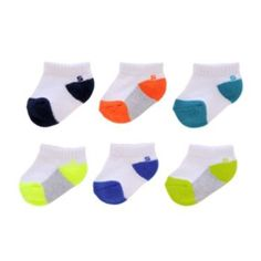Baby/Toddler Jumping Beans 6-pk. Colorblock Low Socks