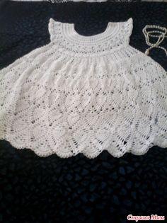 Белоснежные ананасы для Алисы!!! Baby Patterns, Baby Dress, Crochet Baby, Lace, Tops, Dresses, Women, Fashion, Toddler Dress