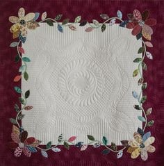 I love everything about this... the quilting is beautiful on its own