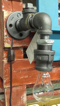 Industrial Light Wall Sconce by DesignsbyDGage on Etsy