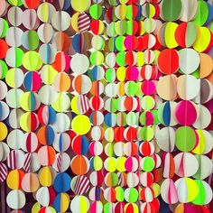 circle garland party curtain