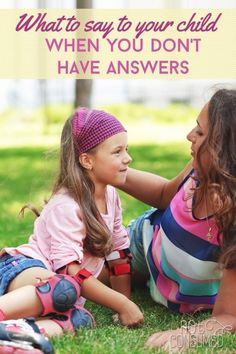 Has your child ever asked you a question that you simply couldn't answer? It's a hard place to be as a parent, but it's the perfect time to help them see who God really is!