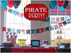 Red, Black + Aqua Pirate Birthday Bash! By Pizzazzerie