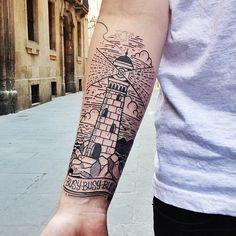 LTW tattoo by Cisco Tattoo You, Arm Tattoo, Sleeve Tattoos, Woodcut Tattoo, Just Ink, Dope Tattoos, Line Work Tattoo, Nature Tattoos, Skin Art