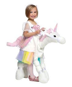 Ride-On Rainbow Unicorn Dress-Up Outfit by Fun World Ride On Unicorn Costume, Unicorn Halloween Costume, Unicorn Outfit, Halloween Costumes For Girls, Cool Costumes, Halloween Ideas, Costume Ideas, White Costumes, Horse Costumes