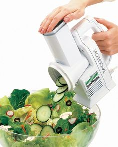 A SaladShooter to be your own personal slicing and shredding machine.