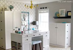 Craftaholics Anonymous craft room-I love the crib springs as an inspiration board