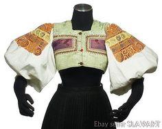 Buy VINTAGE Slovak Folk Costume embroidered blouse & vest Detva ethnic peasant kroj at online store Folk Costume, Costumes, Embroidered Blouse, Boho Chic, Ethnic, Bell Sleeve Top, Vest, Best Deals, Bucharest
