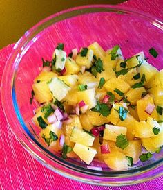 Fresh pineapple salsa...serve with grilled tilapia or salmon