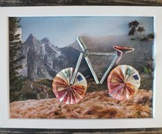 Making a gift of a bicycle: instructions for making a copy- Geldgeschenk Fahrrad basteln: Anleitung zum Nachbasteln Money Gift Bicycle Crafting Instructions - Diy Birthday, Birthday Cards, Birthday Gifts, Craft Gifts, Diy Gifts, Don D'argent, Origami Diy, Creative Money Gifts, Money Gifting