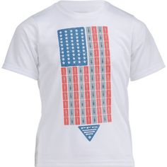 Columbia Sportswear Boys' PFG Americana Fish Flag T-shirt (White, Size Medium) - Boy's Apparel, Boy's Casual Tops at Academy Sports