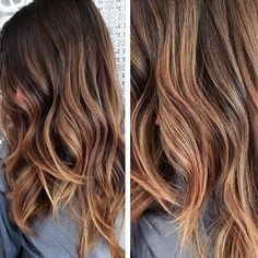 Beautiful subtle ombre done by our MAVEN colorist, Matt. Melty hair color, golden hair, beach waves, lived in hair, caramelized highlights, balayage, high end hair, beverly hills salon. www.mavenbeverlyhills.com