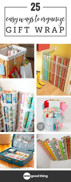 Get your gift wrapping chaos under control once and for all with these 25 inexpensive organizing ideas you can easily create yourself! wrapping station 25 Simple Ways To Tackle The Messiest Chore Of The Holidays Gift Bag Organization, Gift Bag Storage, Craft Storage, Organizing Gift Bags, Tissue Paper Storage, Organizing Your Home, Organizing Ideas, Gift Wrapping Supplies, Wrapping Papers