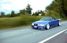 BMW E36 3 series cabrio slammed