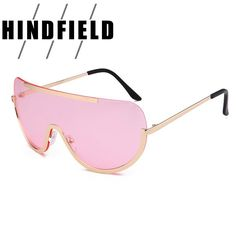a2ee6286a4c Fashion Oversized Sunglasses Women 2017 Pink Shades Rimless Men Sunglasses  Retro Luxury Brand UV400 oculos de sol masculino  Affiliate