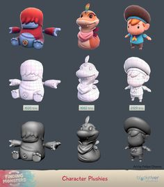 ArtStation - Finding Monsters - Game Assets, Felipe Chaves