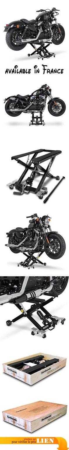 Cric moto ConStands Mid-Lift noir pour Harley Davidson Sportster 1200/ Custom (XL 1200 C)/(XLH-1200), Sportster 1200 Low/ Sport (XL 1200 L)/ (XLH 1200 S). Dans le titre vous trouverez quelques exemples de modèles qui correspondent avec le cric Nous recommandons l'application des sangles de serrage durant l'hiver. Données techniques: Dimensions (LxPxH): 85 x 50 x 10,5 cm / Dimensions de surface de contact (LxP): 67 x 35 cm / Hauteur min. 10,5 cm / Hauteur max. 42 cm / Poids
