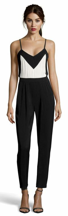 Cute Black and White Jumpsuit