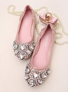 shoes - http://zzkko.com/n185334-ilan-home-Bing-Korean-exquisite-beaded-rhinestones-large-shallow-mouth-pointed-flat-shoes-new-shoes.html $19.67