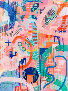 Tiff Manuell Original Artwork | Life is better in colour | Acrylic on Canvas