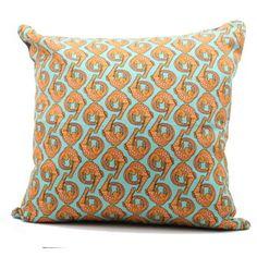 Ardmore Ceramics Scatter Cushions: Croco Persimmon