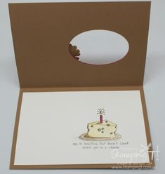 Good idea - The inside of the card is where you see the whole image from the Giggle Greeting stamp set which I have colour in with my blender pens after stamping with StazOn ink.